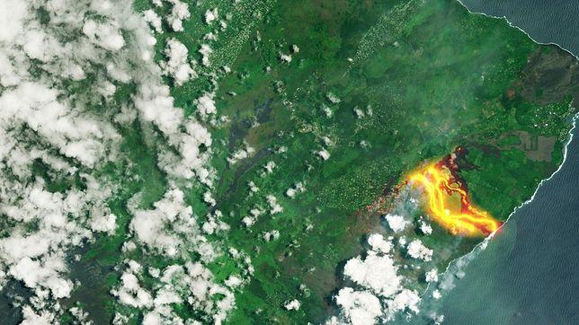 Lawę zaobserwowali również astronauci z Międzynarodowej Stacji Kosmicznej