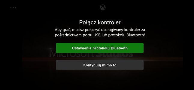 Ostrzeżenie dotyczące podłączenia kontrolera, fot. Jakub Krawczyński