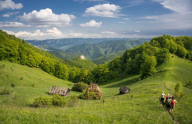 Apuseni. Rumunia. Góry są jak dobrze wyrośnięte ciasto drożdżowe, takie z dużymi dziurami