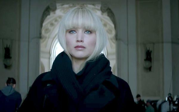 """Jennifer Lawrence jako Dominika Egorova w filmie """"Czerwona jaskółka"""""""