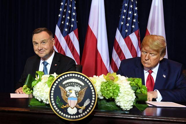Andrzej Duda i Donald Trump podpisali wspólną deklarację na temat pogłębiania współpracy obronnej