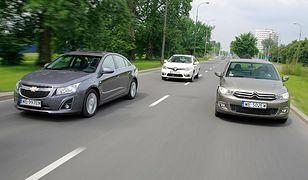 Chevrolet Cruze, Citroen C-Elysee i Renault Fluence: tanie kompaktowe sedany