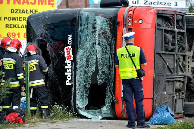 Miejsce wypadku Polskiego Busa