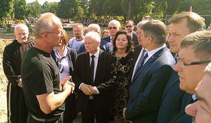 Jarosław Kaczyński odwiedził Łączkę. Trwają poszukiwania szczątków polskich bohaterów