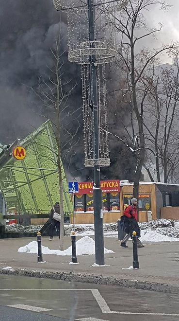 Pożar przy ul. Świętokrzyskiej