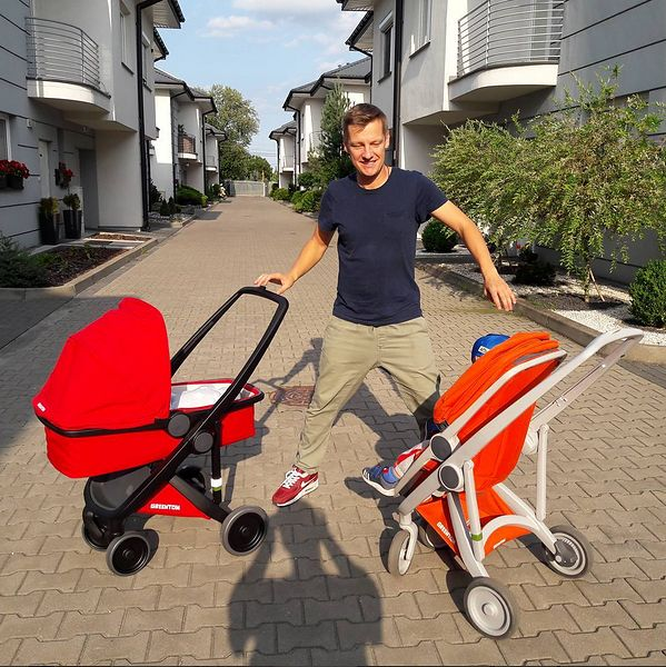 Marcin Mroczek na pępkowym swojego synka