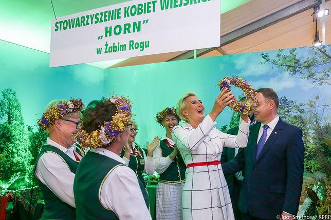 Agata Kornhauser-Duda podczas dożynek w Spale