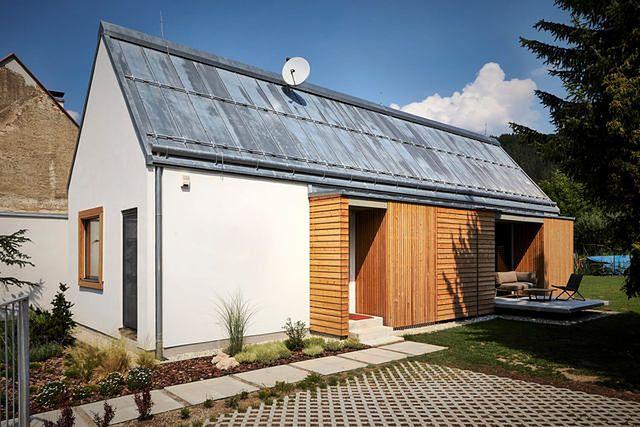 Dom z drewnianych cegieł