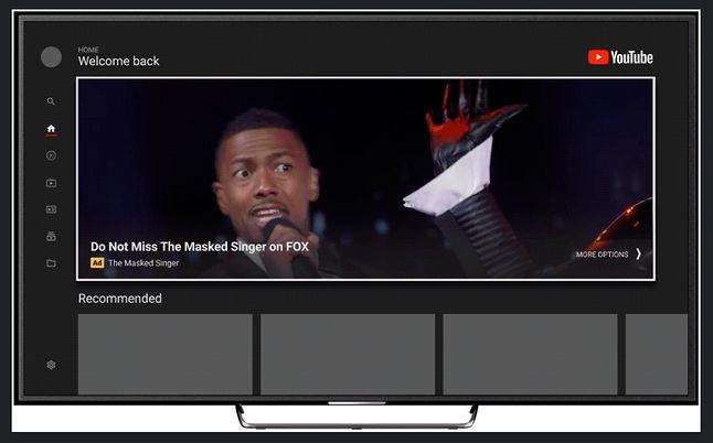 """Reklamy """"Masthead"""" trafiają do YouTube'a w telewizorach, źródło: Google."""