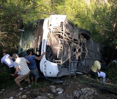 Wypadek autobusu z polskimi turystami w Turcji