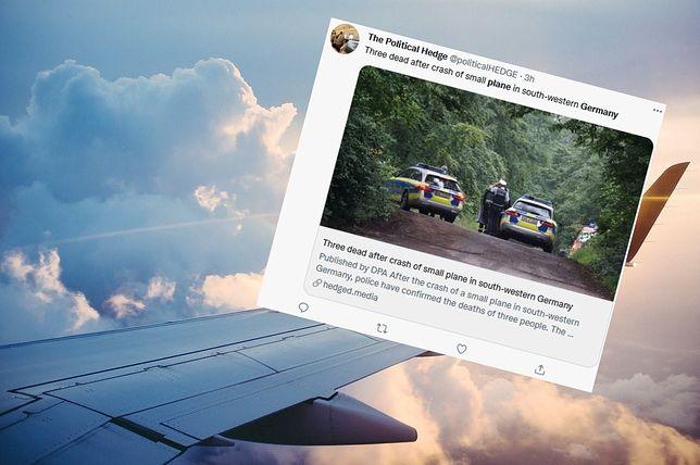 Niemcy. Katastrofa małego samolotu