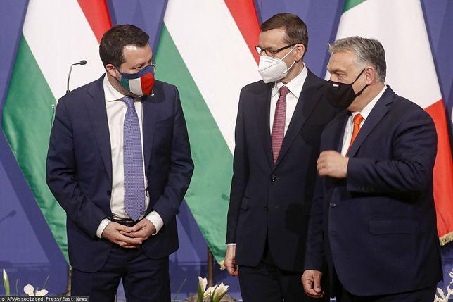 Matteo Salvini, Mateusz Morawiecki oraz Wiktor Orban (zdj. arch.)