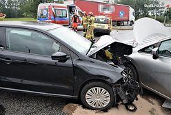 Mikołów. Poważny wypadek, trzy samochody rozbite