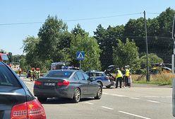 Mikołów. Zderzenie na drodze krajowej 81. Na miejscu helikopter LPR