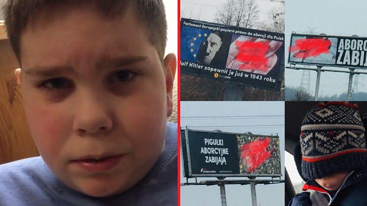 Franek Kossowski bał się wyjść z domu przez antyaborcyjne plakaty (Facebook.com/dzielnyfranek)