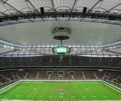 Stadion Narodowy podczas meczu futbolu amerykańskiego
