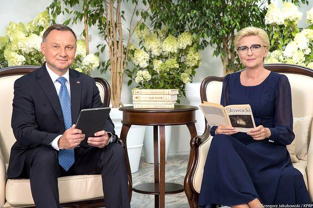 Narodowe Czytanie. Balladyna. Para prezydencka zachęca do udziału w akcji (fot. prezydent.pl)