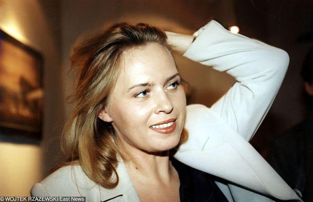 Anastazja Potocka naprawdę nazywa się Marzena Domaros. Zdjęcie zrobione w 1995 r.