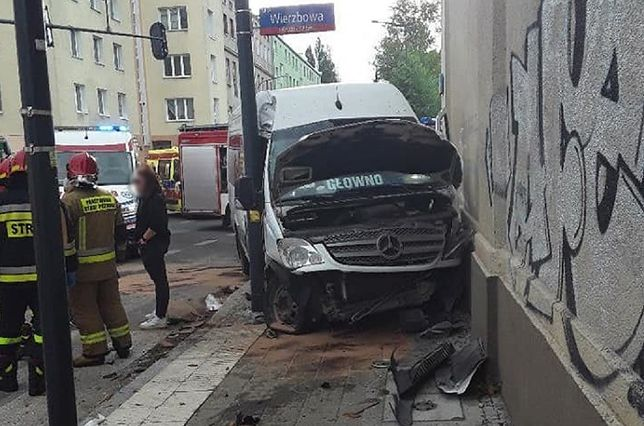 Łódź. Groźny wypadek w centrum miasta