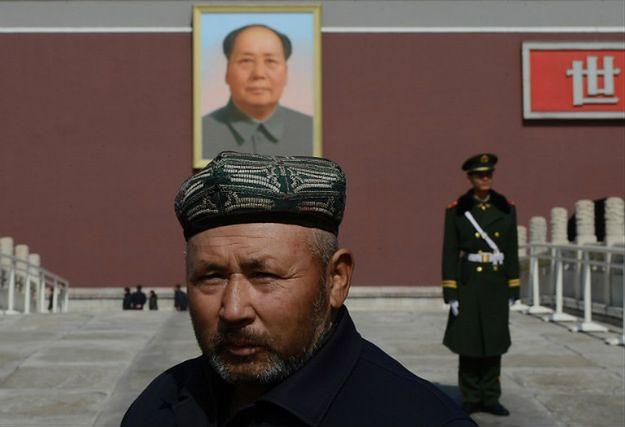 Ujgur na placu Tiananmen