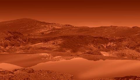 Jedna z koncepcji przedstawiająca powierzchnię Tytana