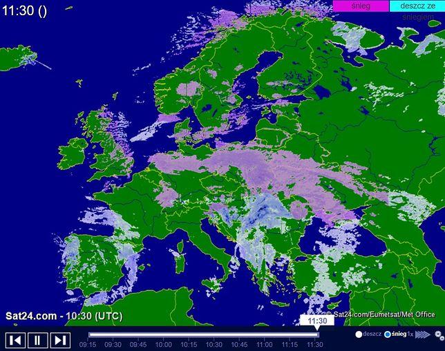 Opady śniegu w Europie 8 lutego 2021 r.