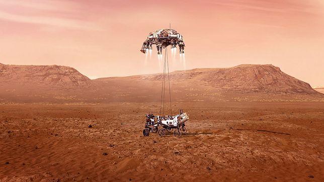 MARS 2020 - lądowanie (wizualizacja)