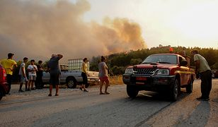 """Grecja. Pożar na wyspie Rodos. """"Nie ma prądu"""""""