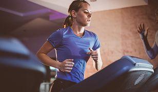 Trening na bieżni może przybrać formę interwałową