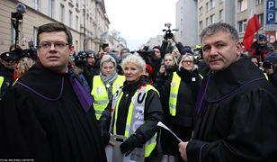 Warszawa. Sędzia Waldemar Żurek na Marszu Tysiąca Tóg, 11 stycznia 2020 r.