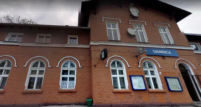 Damnica. Utrudnienia w ruchu pociągów po wypadku (Fot.: maps.google.pl)