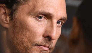 """Matthew McConaughey na premierze """"Mrocznej wieży"""". Aktor nie ma powodów do zadowolenia..."""