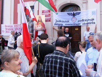 Modlili się o nawrócenie prezydenta Poznania, nazywając go wykonawcą decyzji nazistów