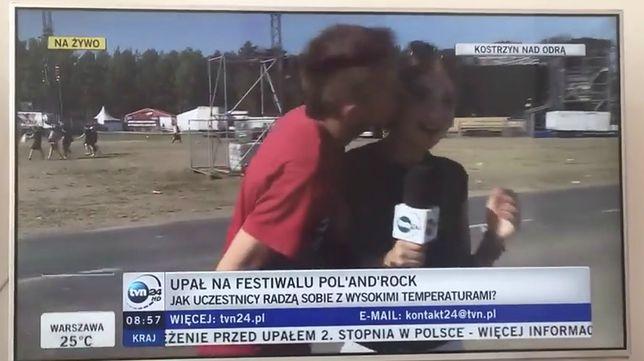 Sylwia Spurek skrytykowała całowanie obcych kobiet dla żartu.