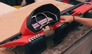 Czerwona tapicerka jest wyznacznikiem dla innych elementów zmodyfikowanego Lamborghini