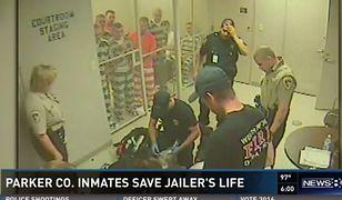 Więźniowie uratowali strażnika, który podczas służby dostał ataku serca