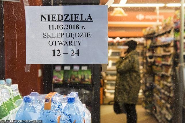W najbliższą niedzielę większość sklepów będzie zamkniętych