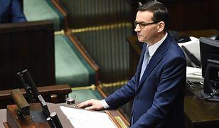 Expose premiera Mateusza Morawieckiego. Nawiązał do sprawy uniewinnienia Piotra Najsztuba