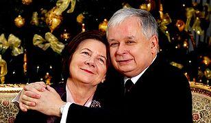 Lech Kaczyński wraz ze swoją żoną, Marią Kaczyńską