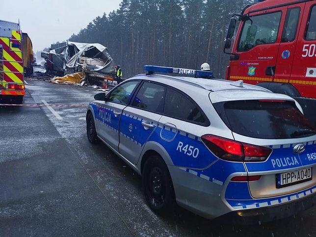 Śląsk. Wypadek w Woźnikach. Autostrada A1 w stronę Gliwic zablokowana