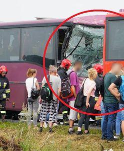 Dolny Śląsk. Zderzenie dwóch autokarów koło Oławy, wiele osób poszkodowanych