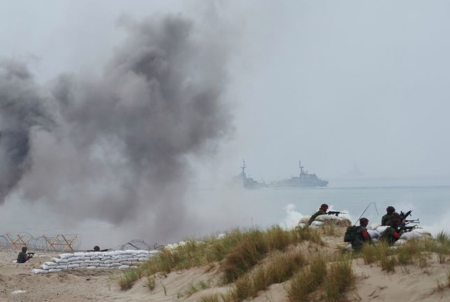 Sojusznicze lądowanie na plaży w Ustce