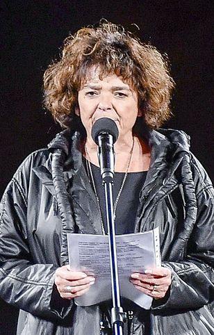 Katarzyna Grochola była jedną z osób, które przemawiały w niedzielę na manifestacji
