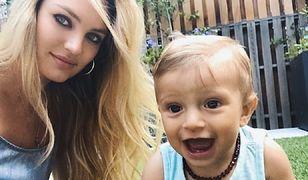 Dlaczego syn Candice Swanepoel nosi bursztynowy naszyjnik?