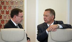 Od lewej: Mariusz Kamiński (minister koordynator ds. służb specjalnych) oraz Marian Banaś (prezes NIK) - zdj. arch.