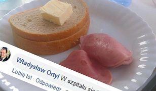 Ortyl skomentował szpitalne śniadanie