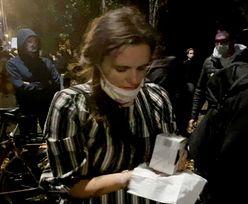 Klaudia Jachira o protestach. Została spryskana gazem