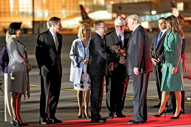 """Echa wizyty Trumpa. """"Może pan przyzna, że dzień był udany, a nie będzie politycznie szogunował?"""""""