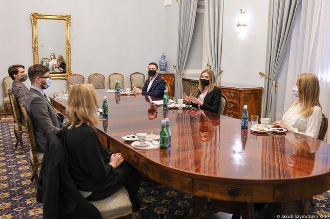 Kinga Duda w Pałacu Prezydenckim rozmawiała o problemach młodzieży