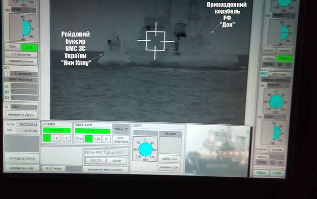 """Rosyjski okręt staranował ukraiński. """"Agresywne działania"""""""